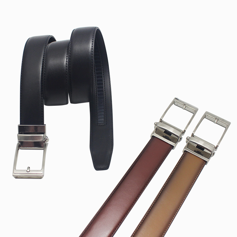 Auto Lock Buckle Genuine Automatic Leather Belt 35-19278ABC
